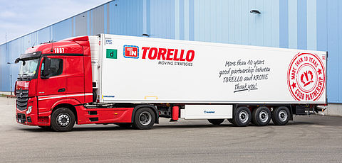 10 years partner: Torello and Krone celebrate