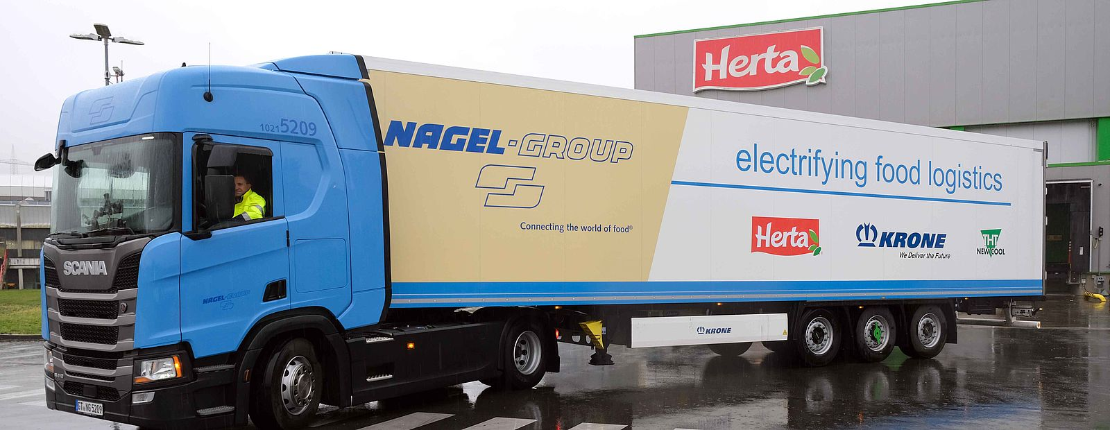 Nagel-Group and Herta test electric Krone trailer