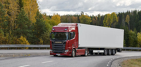 Visitors from all over the world test Scania trucks with Krone trailers