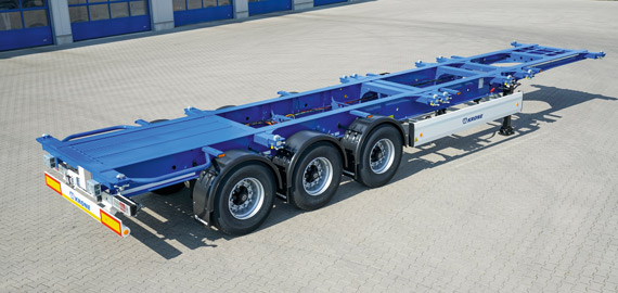 The flat chassis for containers up to 40'