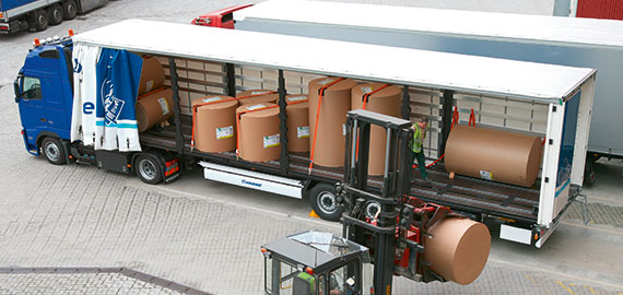 The load securing equipment for paper rolls
