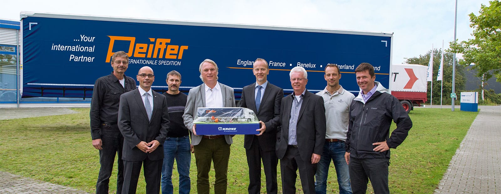 400th Krone Trailer for freight forwarding company Peiffer