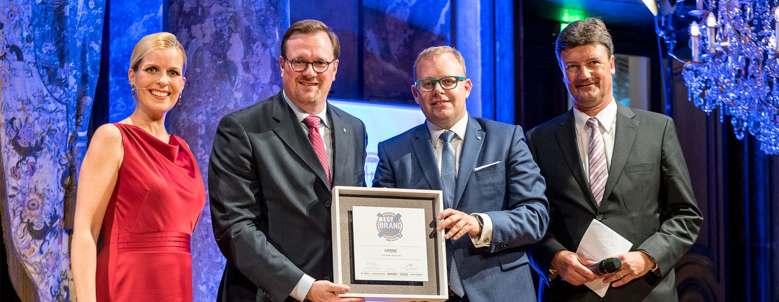 "Customer focus pays off: Krone twice awarded ""Best Brand 2017"""