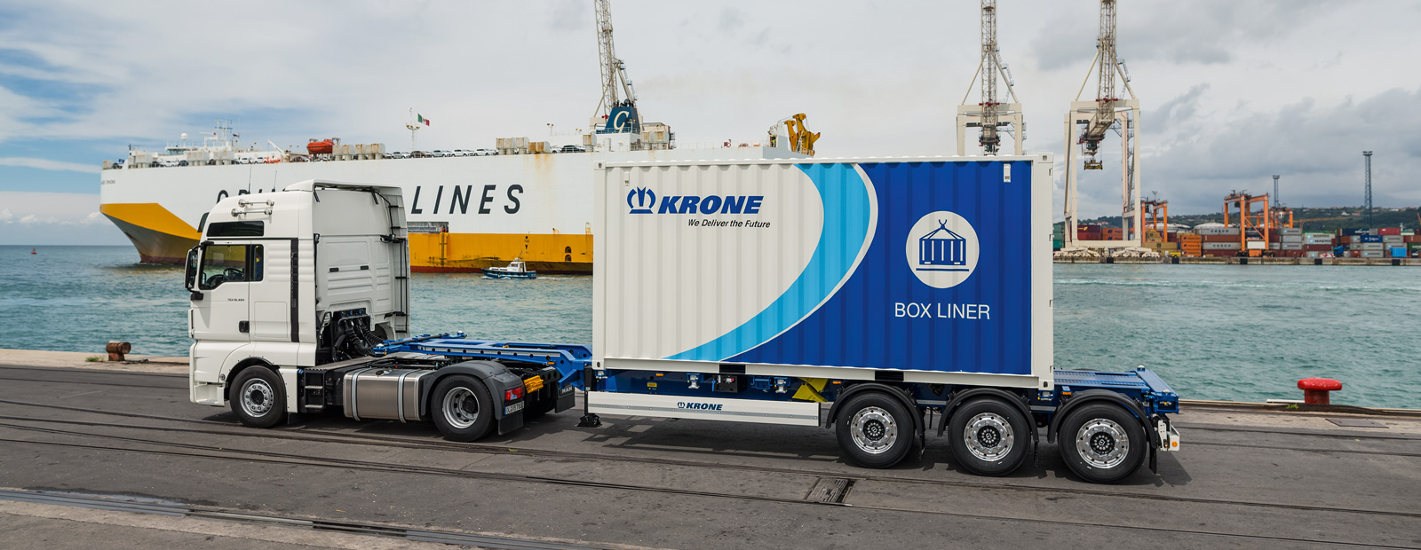 Krone Container Chassis manoeuvrable in container traffic