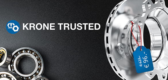 The new spare parts brand from the market leader - KRONE Trusted